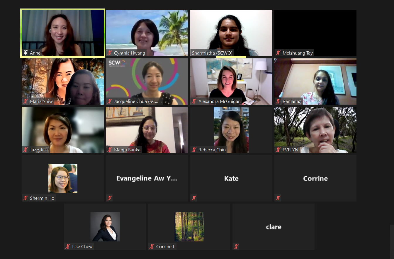 Blending Excellence Zoom Session Screenshot